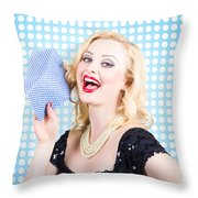 Woman Cleaner Maid  Throw Pillow