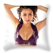 Woman Posing Throw Pillow