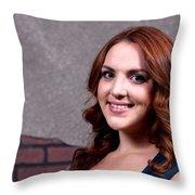 Woman Red Hair Throw Pillow