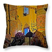 Women At Rumi's Mausoleum In Konya-turkey  Throw Pillow