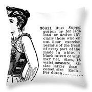 Women's Fashion, 1895 Throw Pillow