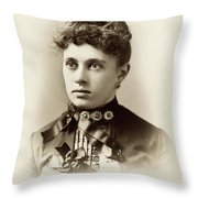 Women's Fashion, C1880 Throw Pillow
