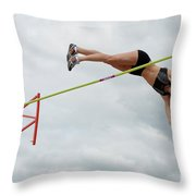 Womens Pole Vault 3 Throw Pillow