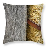 Wood Concrete And Steel In Color Throw Pillow