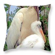 Wood Stork Mycteria Americana Throw Pillow