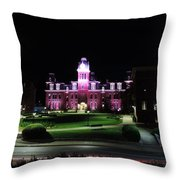 Woodburn Hall At Night Throw Pillow
