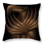 Wooden Bird Throw Pillow