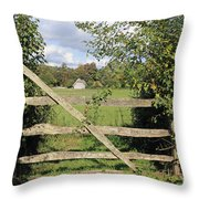 Wooden Gate Sussex Uk Throw Pillow