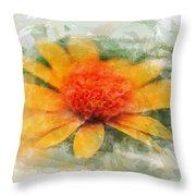 Woodland Sunflower Throw Pillow