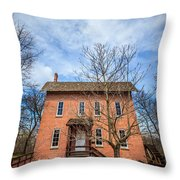 Wood's Grist Mill In Deep River County Park Throw Pillow