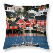 World Hertitage Designated Town On Throw Pillow