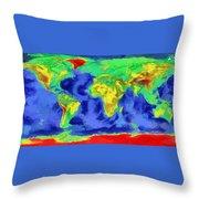 World Map Art Throw Pillow