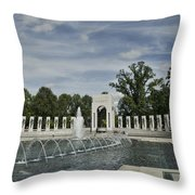 World War 2 Memorial Throw Pillow