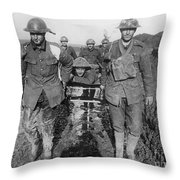 World War I: Soldiers Throw Pillow