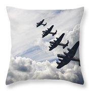 World War Two British Vintage Flight Formation Throw Pillow by Matthew Gibson