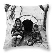 World's Fair Eskimos Throw Pillow