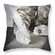 Writing Throw Pillow by Joana Kruse
