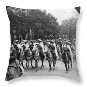 Wwi Moroccan Troops Throw Pillow