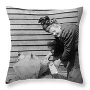 Wwi Refugee, 1918 Throw Pillow