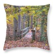 Wye Island Trail  Throw Pillow