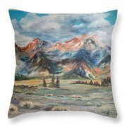 Wyoming Sunrise Throw Pillow by Jean Ann Curry Hess