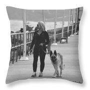 Santa Barbara Breakwater Throw Pillow