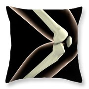 X-ray Image Of Knee Throw Pillow