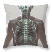 X-ray Skeleton Throw Pillow