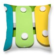 Xylophone Throw Pillow