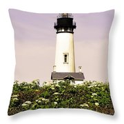 Yaquina Lighthouse In May Throw Pillow