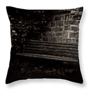 Ye Olde Bench In Bakewell Town Peak District - England Throw Pillow