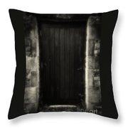 Victorian Cottage Door  Throw Pillow