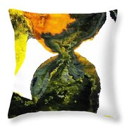 Yellow And Gray Interactions 8 Throw Pillow by Amy Vangsgard