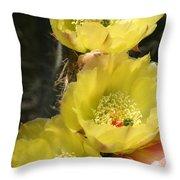 Yellow Cactus Throw Pillow
