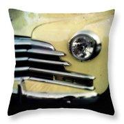 Yellow Chevrolet Throw Pillow