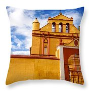 Yellow Colonial Church Throw Pillow