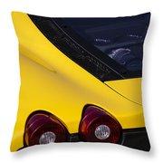 Yellow F430 Throw Pillow