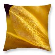 Yellow Flower Macro Throw Pillow