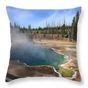 Yellowstone Park - Geyser Throw Pillow