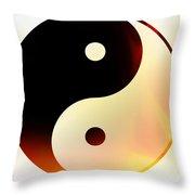 Yin And Yang 3 Throw Pillow