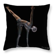 Yoga Half Moon Pose Throw Pillow