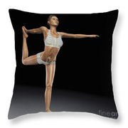 Yoga The Dancers Pose Throw Pillow