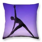 Yoga Triangle Pose Throw Pillow