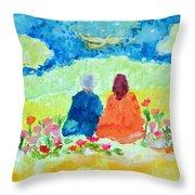 Yogananda And Swami Kriyananda Throw Pillow