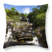 Yorkshire Dales Waterfall Throw Pillow