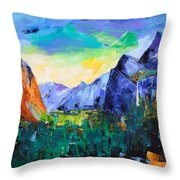 Yosemite Valley - Tunnel View Throw Pillow