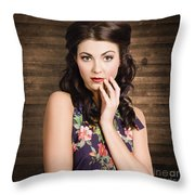 Young Girl With Perfect Skin Throw Pillow
