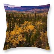 Yukon Gold - Fall In Yukon Territory Canada Throw Pillow
