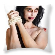 Zombie Tied Up Throw Pillow