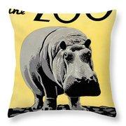 Zoo Poster C1936 Throw Pillow